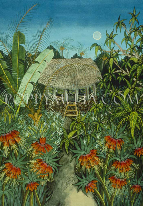 Fale & Flowers Painting by Poppy Melia